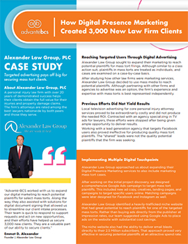 Alexander Law Group Case Study